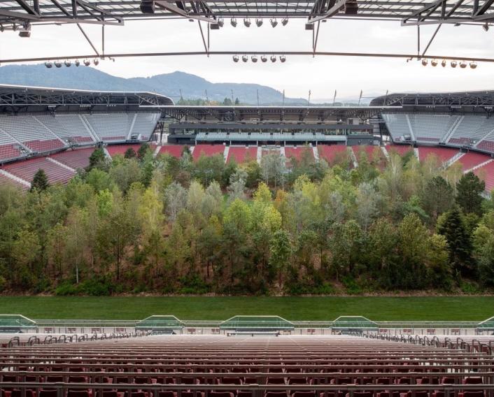 Стадион, домакин на мачове от Евро 2008, се превърна в гора