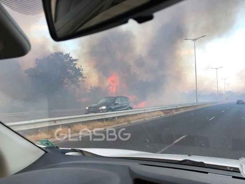 Голям пожар в Пловдив! Отклоняват автомобилите, 4 пожарни екипа се борят с пламъците СНИМКИ