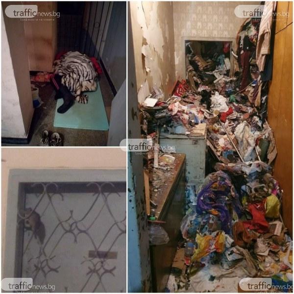 Бунище в блок! 20 г. клошарки държат 20 семейства като заложници в Пловдив