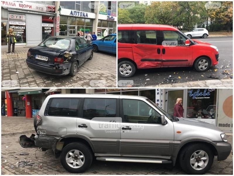 Пловдивски бизнесмен е пияният шофьор с джипа, помлял 6 коли в