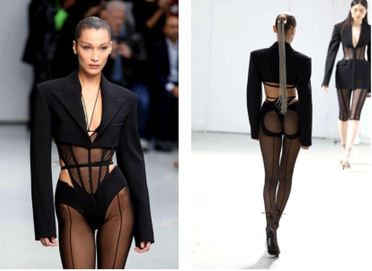 Заради новата мода - Бела Хадид се изложи, лъсна по дупе