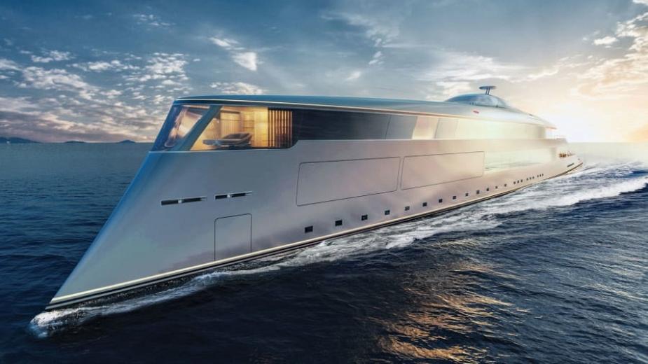 Яхта от бъдещето: Движи се на водород! А в нея – лукс СПА процедури