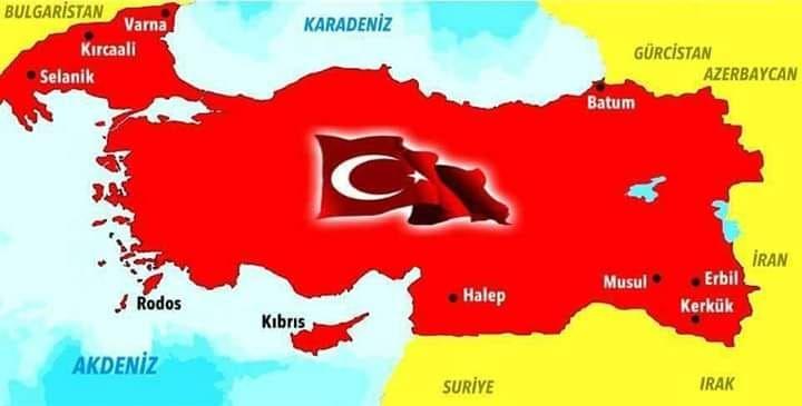 Скандална комшийска карта! Турция си присвои Варна, Кърджали…