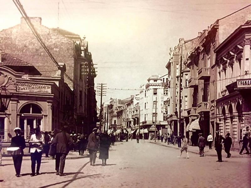 Как изглеждаше Главната на Пловдив преди повече от 100 години