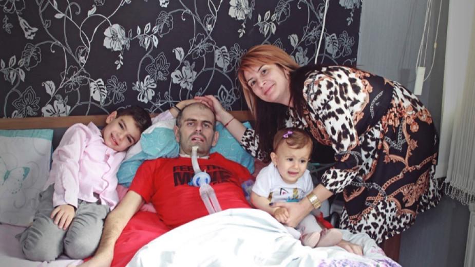 Емо – баща на две деца, не може да диша! А апаратът му струва 16 000 лв.
