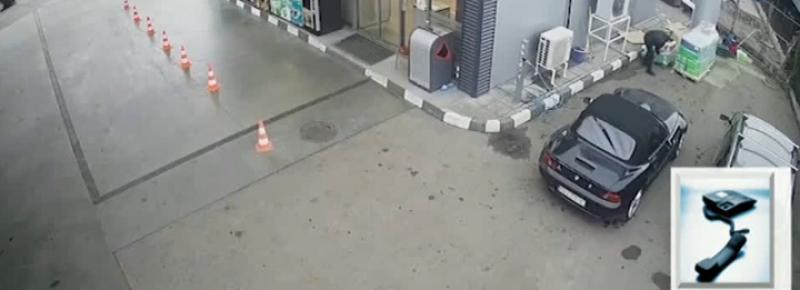 Нагла кражба от бензиностанция! Баровец с тузарска кола задига антифриз