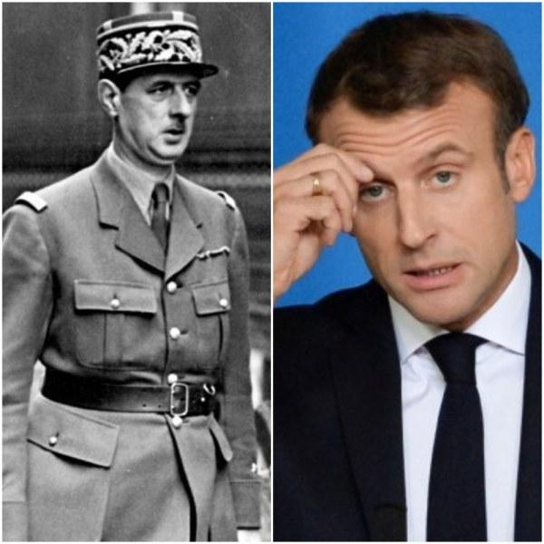 Приличат ли му на Макрон пагоните на генерал Дьо Гол?