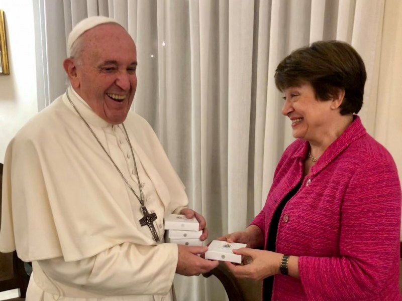 Кристалина при папа Франциск! Какво си казаха?