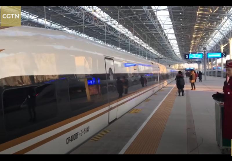 Нова високоскоростна линия в Китай