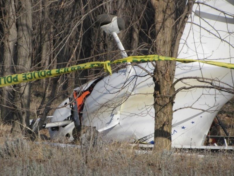 Малък самолет се заби в дървета край Русе, има тежко пострадал СНИМКИ
