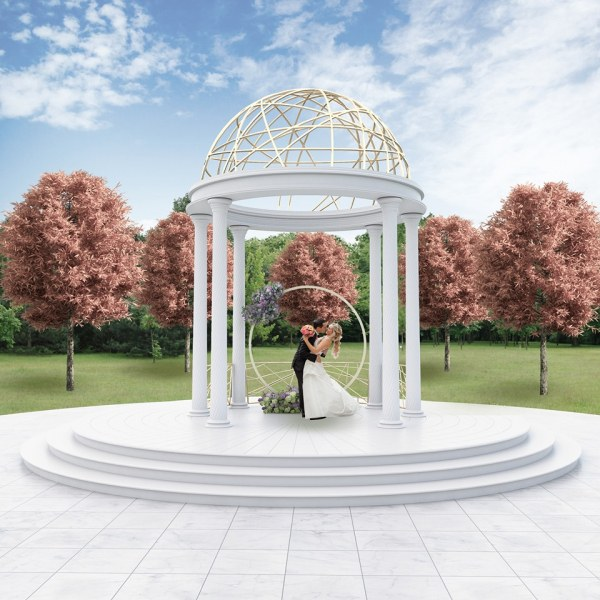 Младоженци се венчаха на приказно кътче до Пловдив