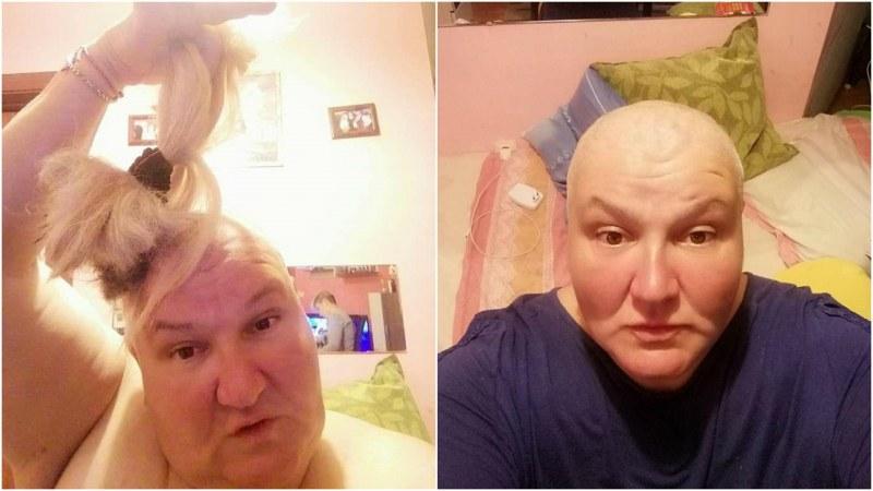 Майка на две деца отряза косата си и направи разтърсваща изповед във Facebook ВИДЕО
