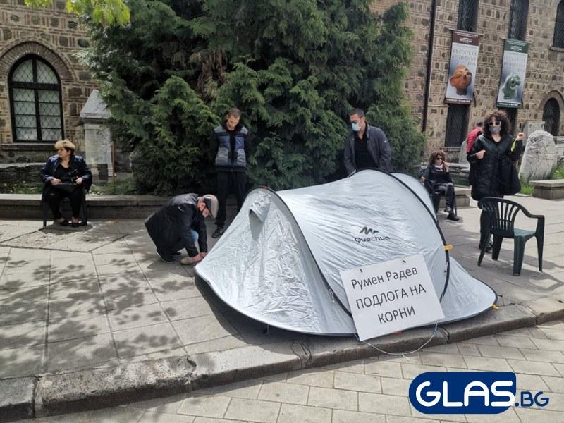 Ето какво казаха гневните протестиращи срещу президента Радев ВИДЕО