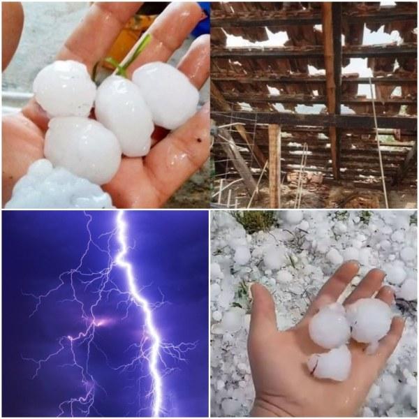 Градушка, ураган и потоп на запад! Идва към нас, вече удари Видин СНИМКИ+ВИДЕО