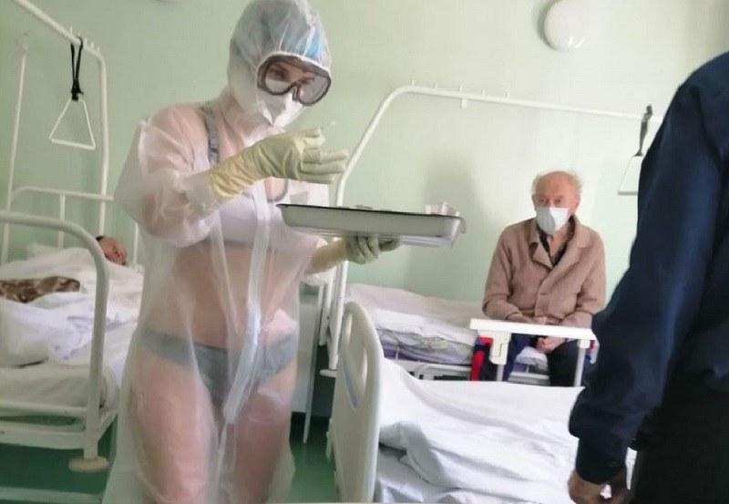 Медицинска сестра се появи по бански в инфекциозна клиника