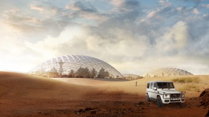 За първи път: Проектират марсиански град в пустинята до Дубай