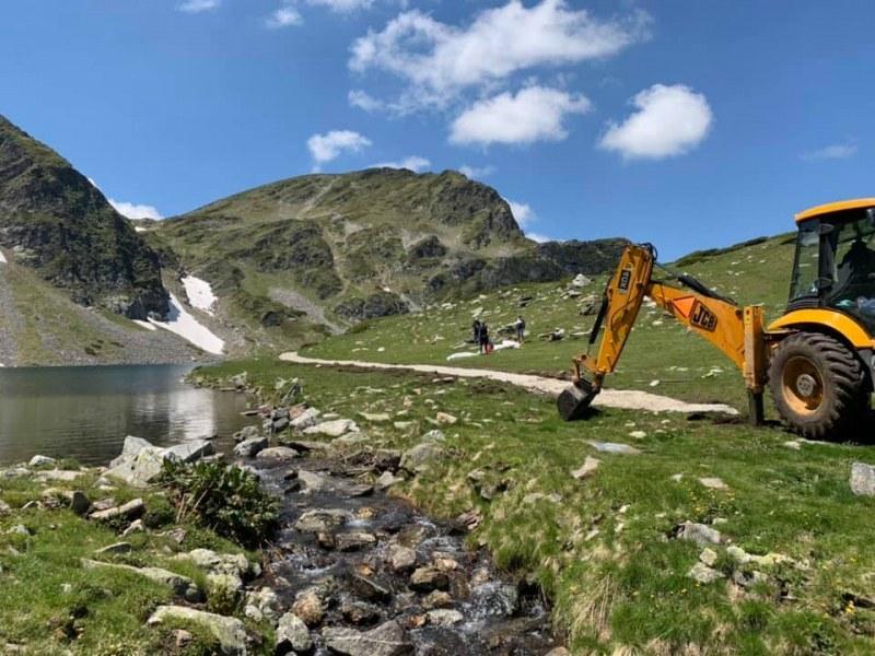 Прокуратурата се самосезира относно строителната техника на Седемте рилски езера