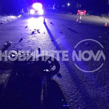 Тежка катастрофа с мотор! Момче и момиче са с опасност за живота СНИМКИ