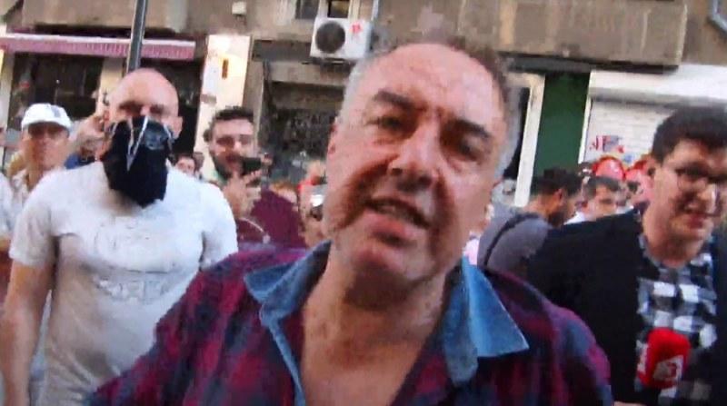Протестиращи нападнаха телевизионен екип в центъра на София ВИДЕО