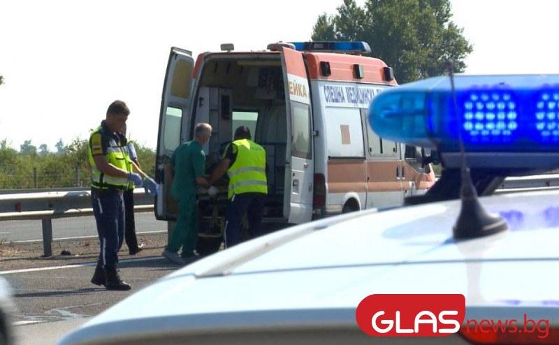 Тежка катастрофа между няколко коли на Тракия, дете пострада сериозно