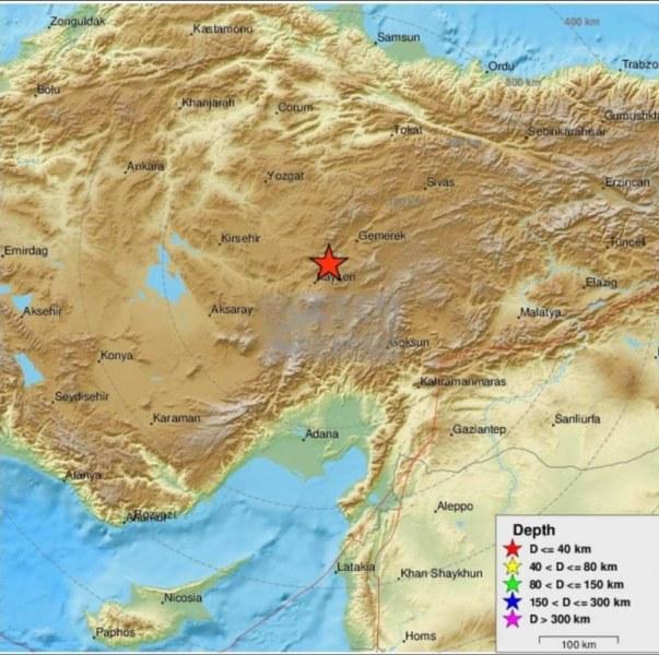Земетресение разлюля Турция