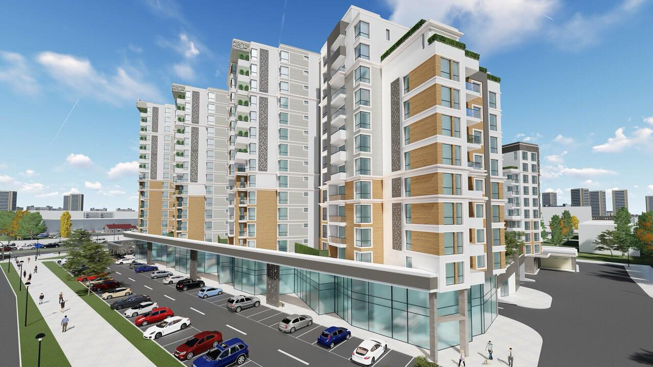 9 блока на мястото на бившата Мебелна къща, най-високият се извисява на 16 етажа СНИМКИ