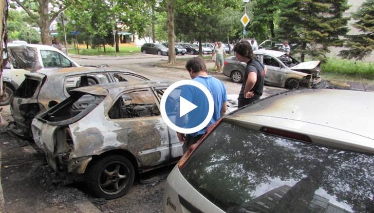 Две от изгорелите коли са на семейство, което има бизнес с компютри