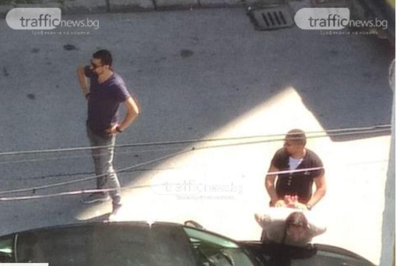 Зрелищен арест в Пловдив: Двама мъже закопчани с наркотици! ВИДЕО