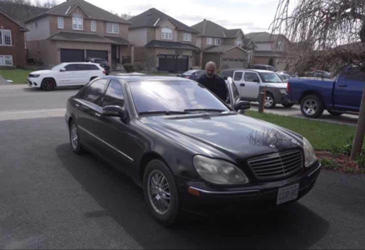 Как изглежда Mercedes S-Class W220 за 550 долара (ВИДЕО)