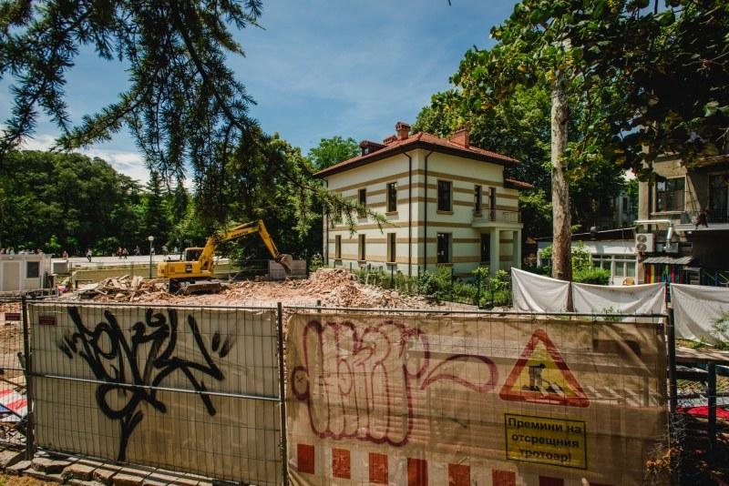 Икономическа полиция влезе в разрушената къща на Куцоглу в центъра на Пловдив