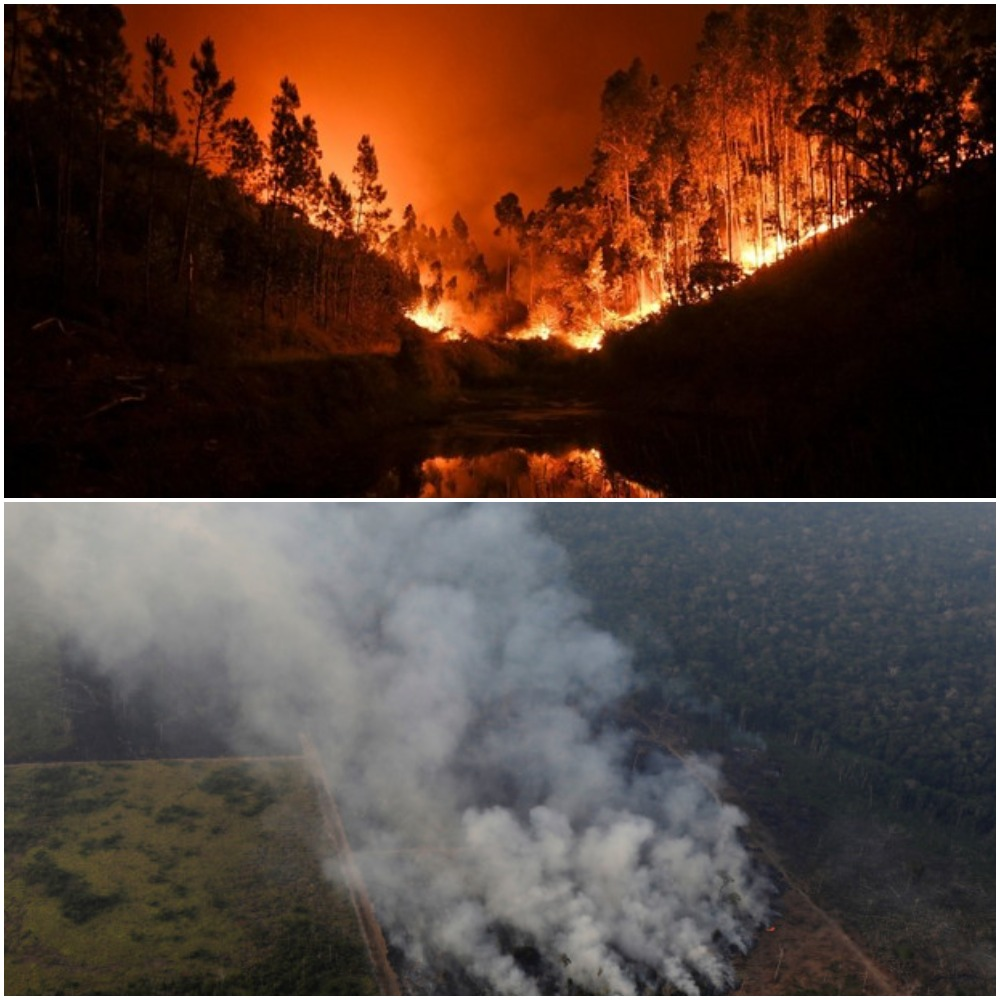 Заплаха! НАСА засече гигантски облак отровен газ, идващ от пожарите в Амазония ВИДЕО
