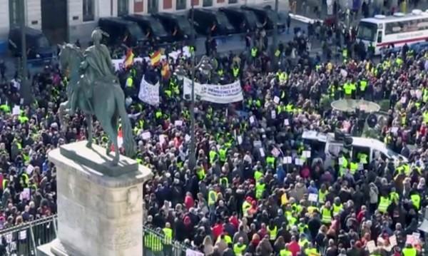 Испански пенсионери на протест, искат по-високи пенсии