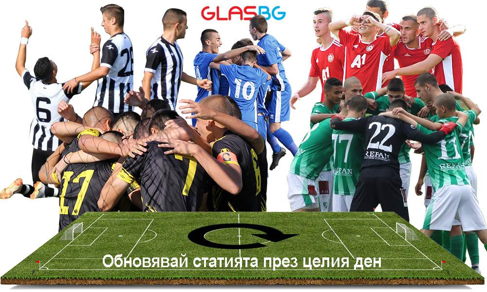 Програма, резултати и репортажи от мачовете при юношите в Glas.Bg за 01.06 (събота)