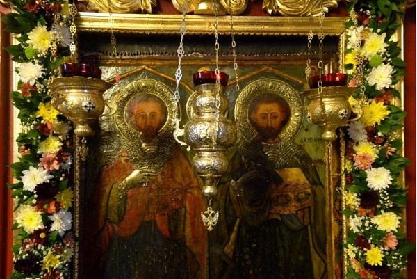 Православната църква прославя светите безсребреници Козма и Дамян