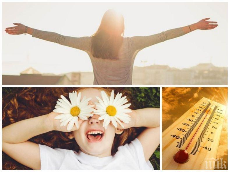 ЛЯТО: Дъждовете спират, слънцето ще грее обилно, температурите скачат