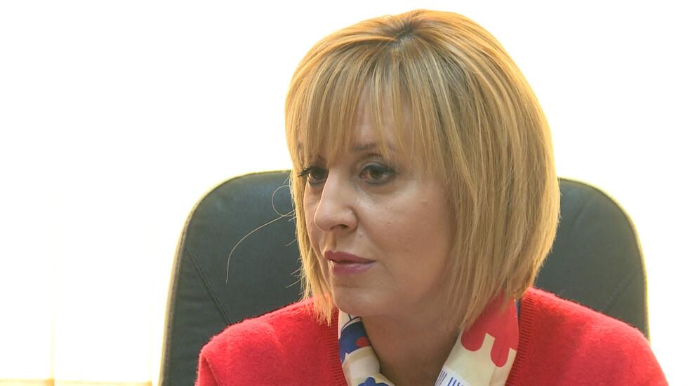 Мая Манолова: Няма да коментирам дали ще се кандидатирам за кмет на София